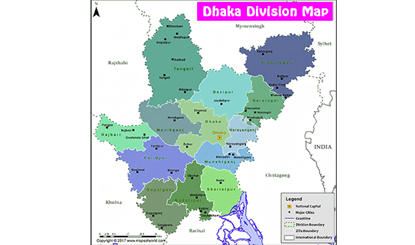 Photo of Map of Dhaka Division